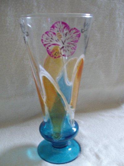 Peinture sur verre vase blog de latelier de sophie for Enlever peinture sur verre
